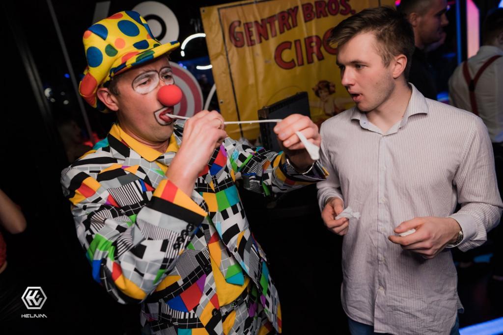 klaun Fred - pokaz iluzji